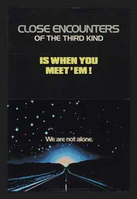 Close Encounters of the Third Kind - 27 x 40 Movie Poster - Style G