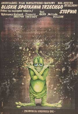 Close Encounters of the Third Kind - 27 x 40 Movie Poster - Polish Style A