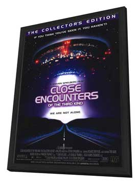 Close Encounters of the Third Kind - 11 x 17 Movie Poster - Style C - in Deluxe Wood Frame