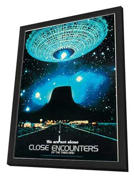 Close Encounters of the Third Kind - 11 x 17 Movie Poster - Style O - in Deluxe Wood Frame