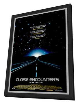 Close Encounters of the Third Kind - 27 x 40 Movie Poster - Style B - in Deluxe Wood Frame