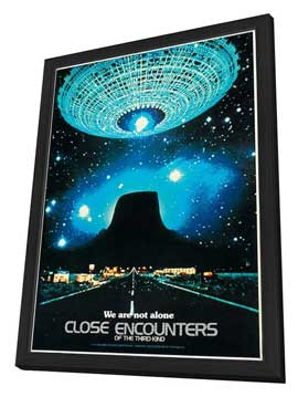Close Encounters of the Third Kind - 27 x 40 Movie Poster - Style H - in Deluxe Wood Frame