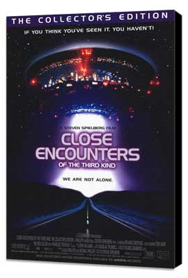 Close Encounters of the Third Kind - 27 x 40 Movie Poster - Style C - Museum Wrapped Canvas