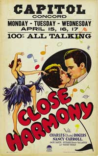 Close Harmony - 14 x 22 Movie Poster - Window Card