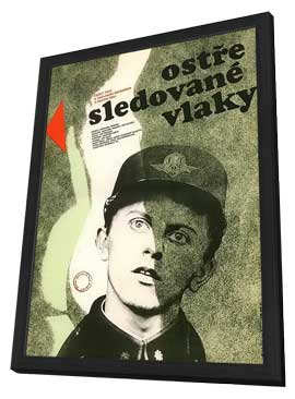 Closely Watched Trains - 11 x 17 Movie Poster - Czchecoslovakian Style A - in Deluxe Wood Frame