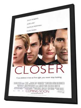 Closer - 27 x 40 Movie Poster - Style A - in Deluxe Wood Frame