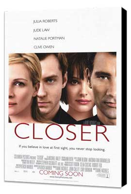 Closer - 27 x 40 Movie Poster - Style A - Museum Wrapped Canvas
