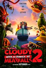 """Cloudy With a Chance of Meatballs 2"" Movie Poster"