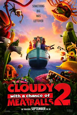 Cloudy with a Chance of Meatballs 2 - DS 1 Sheet Movie Poster - Style A