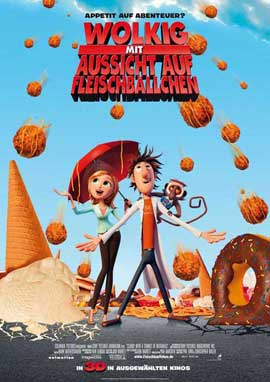 Cloudy with a Chance of Meatballs - 11 x 17 Movie Poster - German Style A