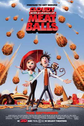 Cloudy with a Chance of Meatballs - 27 x 40 Movie Poster - Style B