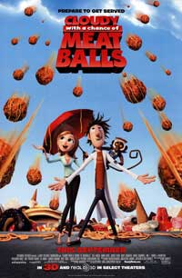 Cloudy with a Chance of Meatballs - 43 x 62 Movie Poster - Bus Shelter Style B
