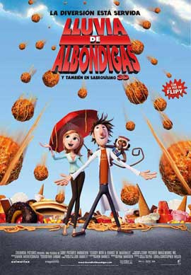 Cloudy with a Chance of Meatballs - 11 x 17 Movie Poster - Spanish Style A