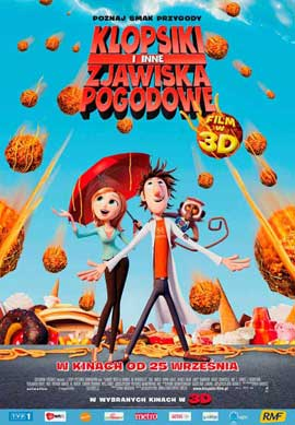 Cloudy with a Chance of Meatballs - 11 x 17 Movie Poster - Polish Style A