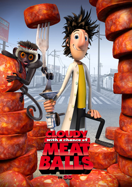 Cloudy with a Chance of Meatballs - 27 x 40 Movie Poster - Style D