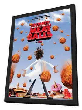 Cloudy with a Chance of Meatballs - 11 x 17 Movie Poster - Style A - in Deluxe Wood Frame
