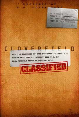 Cloverfield - 27 x 40 Movie Poster - Style F