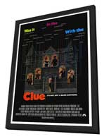 Clue - 27 x 40 Movie Poster - Style A - in Deluxe Wood Frame