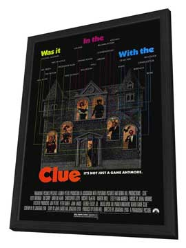 Clue - 11 x 17 Movie Poster - Style A - in Deluxe Wood Frame