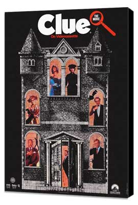 Clue - 11 x 17 Movie Poster - Style C - Museum Wrapped Canvas