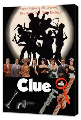 Clue - 11 x 17 Movie Poster - Style D - Museum Wrapped Canvas