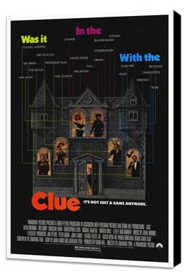 Clue - 27 x 40 Movie Poster - Style A - Museum Wrapped Canvas