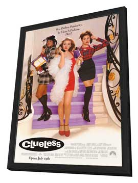 Clueless - 27 x 40 Movie Poster - Style A - in Deluxe Wood Frame