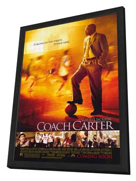 Coach Carter - 11 x 17 Movie Poster - Style A - in Deluxe Wood Frame