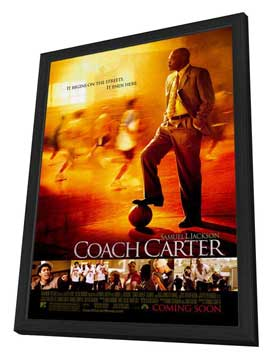 Coach Carter - 27 x 40 Movie Poster - Style A - in Deluxe Wood Frame