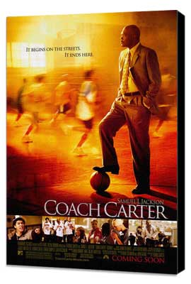 Coach Carter - 27 x 40 Movie Poster - Style A - Museum Wrapped Canvas