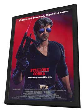 Cobra - 11 x 17 Movie Poster - Style A - in Deluxe Wood Frame