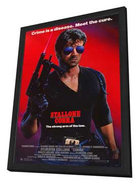 Cobra - 27 x 40 Movie Poster - Style A - in Deluxe Wood Frame