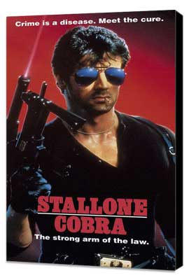 Cobra - 27 x 40 Movie Poster - Style B - Museum Wrapped Canvas