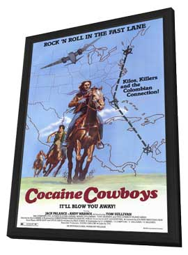 Cocaine Cowboys - 11 x 17 Movie Poster - Style A - in Deluxe Wood Frame