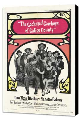 Cockeyed Cowboys of Calico County - 11 x 17 Movie Poster - Style A - Museum Wrapped Canvas