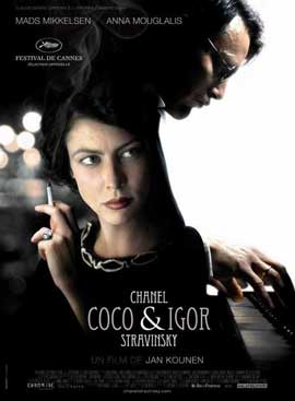 Coco Chanel & Igor Stravinsky - 11 x 17 Movie Poster - French Style A