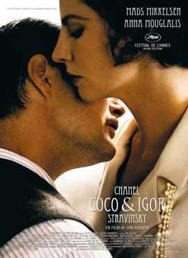 Coco Chanel & Igor Stravinsky - 27 x 40 Movie Poster - Danish Style A