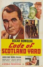 Code of Scotland Yard - 11 x 17 Movie Poster - Style A