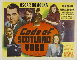 Code of Scotland Yard - 22 x 28 Movie Poster - Half Sheet Style A