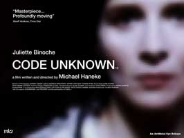 Code Unknown: Incomplete Tales of Several Journeys - 30 x 40 Movie Poster UK - Style A