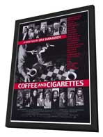 Coffee and Cigarettes - 27 x 40 Movie Poster - Style A - in Deluxe Wood Frame