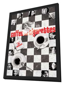 Coffee and Cigarettes - 11 x 17 Movie Poster - Style B - in Deluxe Wood Frame