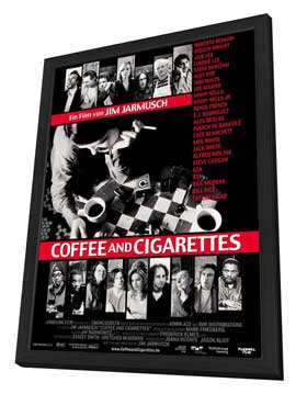 Coffee and Cigarettes - 27 x 40 Movie Poster - German Style A - in Deluxe Wood Frame