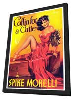 Coffin for a Cutie - 11 x 17 Retro Book Cover Poster - in Deluxe Wood Frame