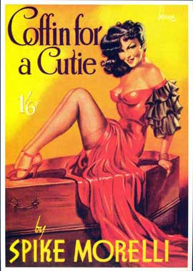 Coffin for a Cutie - 11 x 17 Retro Book Cover Poster