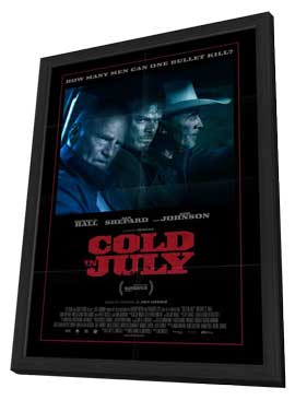 Cold in July - 27 x 40 Movie Poster - Style A - in Deluxe Wood Frame