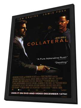 Collateral - 27 x 40 Movie Poster - Style C - in Deluxe Wood Frame