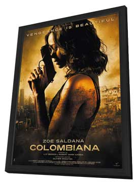 Colombiana - 27 x 40 Movie Poster - Style A - in Deluxe Wood Frame