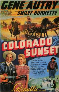 Colorado Sunset - 43 x 62 Movie Poster - Bus Shelter Style A