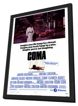 Coma - 27 x 40 Movie Poster - Style A - in Deluxe Wood Frame